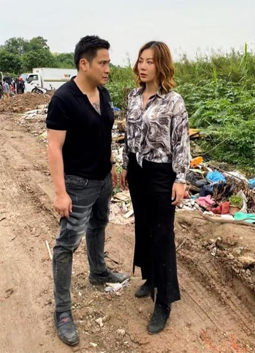 Minh Tiệp và Thanh Hương tại phim trường Những ngày không quên.