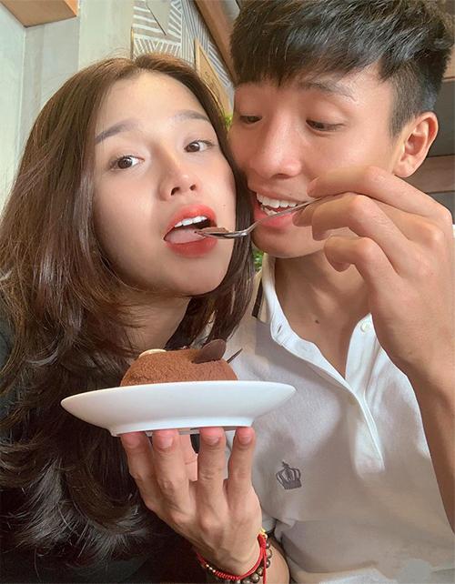 Khánh Linh và Bùi Tiến Dũng hồi còn đang yêu. Ảnh: NVCC.