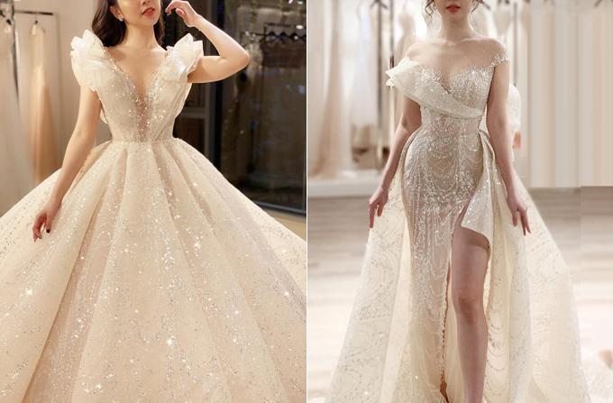 Chiếc váy haute couture 2 trong 1 lấy ý tưởng từ bông calla nở rộ là thiết kế dành riêng cho cô dâu Quản Hà Linh (Hà Nội). Đằng sau thiết kế đẳng cấp này là thông điệp về niềm tin vào tinh yêu thuần khiết của cô dâu và chú rể. Bộ lễ phục được thực hiện trong vòng 6 tháng. Điểm nổi bật của thiết kế là hiệu ứng bắt sáng được phát huy tối đa nhờ chất liệu vải dệt sequin nhập Pháp và 18.000 viên đá Swarovski điểm xuyết trên thân váy.