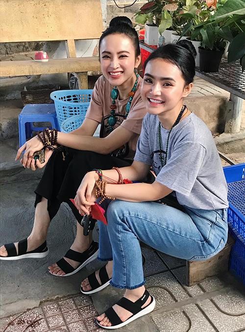 Chị em Angela Phương Trinh mở quánchay bình dân