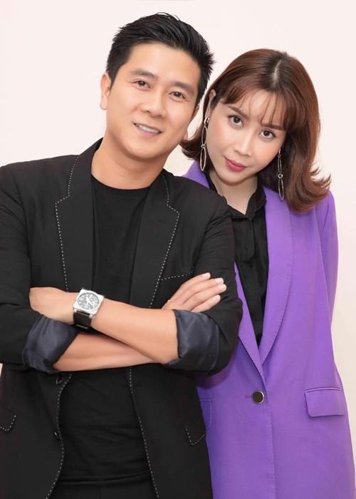 Vợ chồng Hồ Hoài Anh và Lưu Hương Giang (phải).