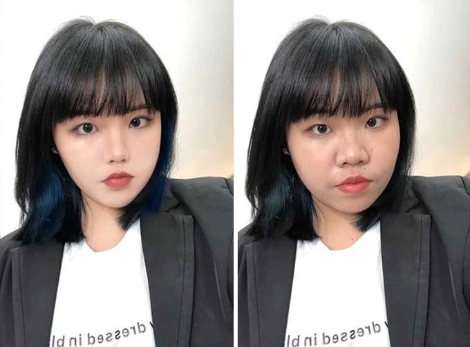 Ảnh thật và ảnh qua chỉnh sửa khác xa của cô gái Đài Loan - 4