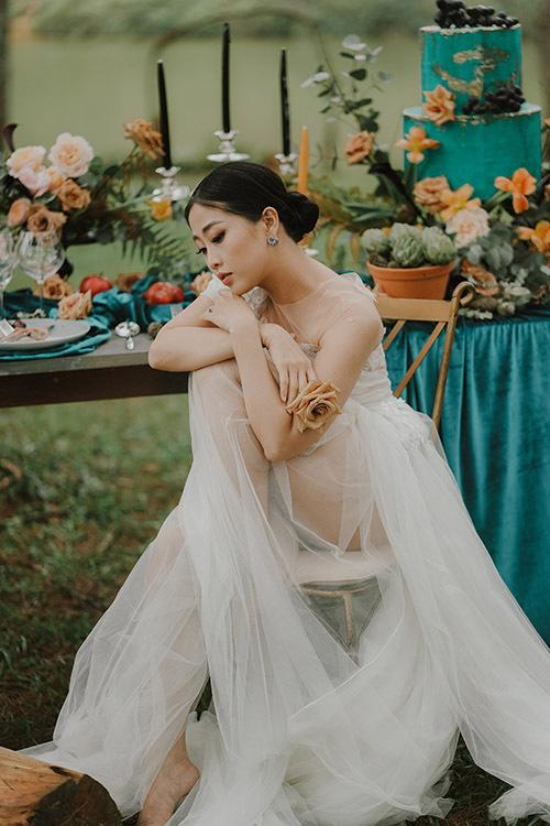 Liêu Hà Trinh luôn ước ao có đám cưới trong rừng, giữa thiên nhiên dung dị vì cô mạng mộc.