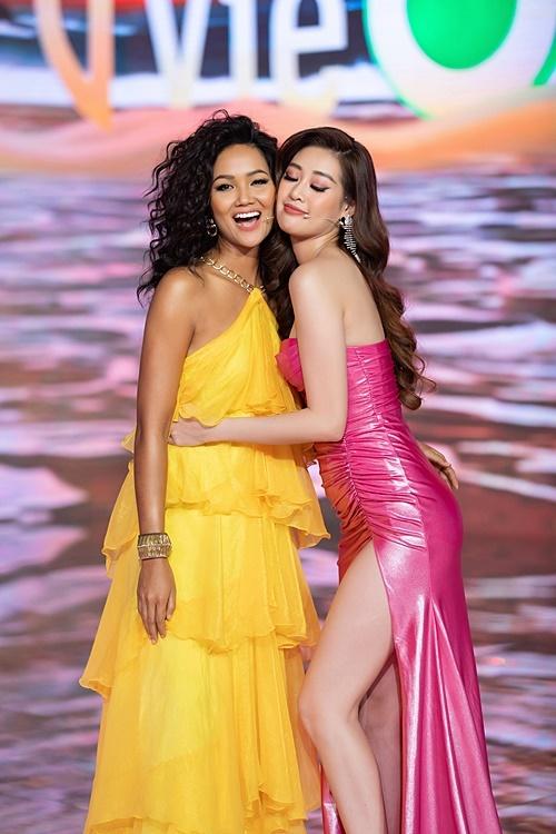 Kết thúc chương trình, hoa hậu H'Hen Niê gửi lời chúc hoa hậu Khánh Vân sẽ gặt hái thành công tại Miss Universe 2020.
