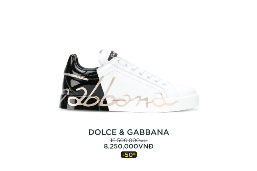 Thương hiệu giày Dolce & Gabbana giảm giá sâu.