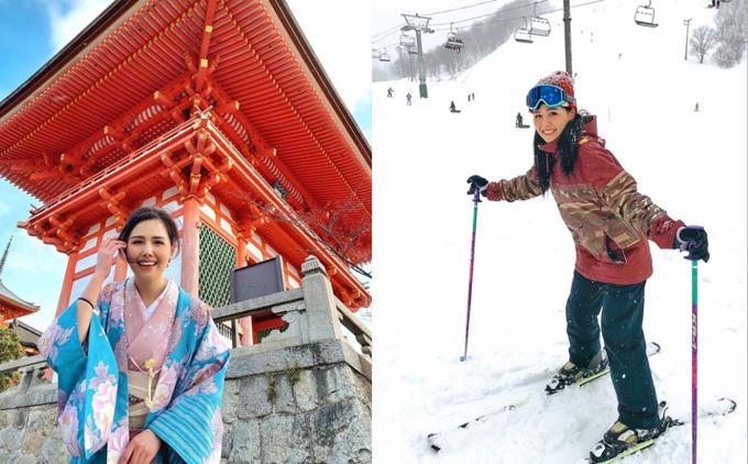 Ngoài những chuyến đi trong nước, thi thoảng, Phương Anh cũng có những chuyến xuất ngoại. Tuy cô không tiết lộ bạn đồng hành nhưng nhiều người đoán cô nàng đi cùng nửa kia. Mùa đông năm ngoái, nữ diễn viên đến Nhật Bản, mặc kimono dạo phố ở cố đô Kyoto và tập tành trượt tuyết với không ít đau thương ở Niseko - khu trượt tuyết nổi tiếng ở Hokkaido.
