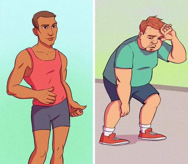 Vận động thường xuyên, kiểm soát chế độ ăn uống là cách giúp giảm mỡ thừa vùng bụng.