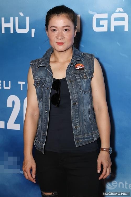 Diễn viên Thanh Hoa (vai Thanh Sói trong phim Hai Phượng) tới ủng hộ các đồng nghiệp trong giới võ thuật.