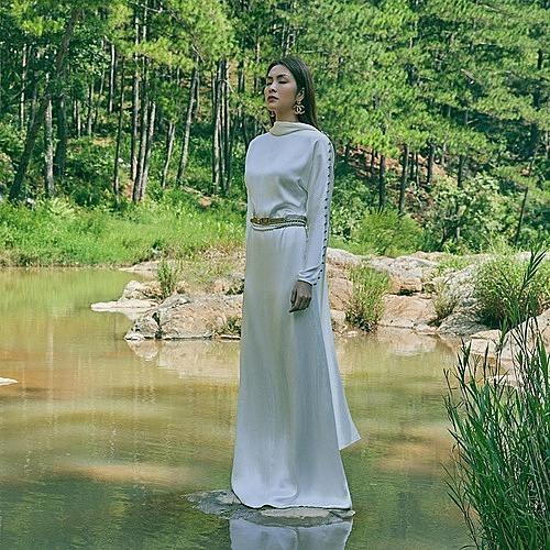 Tăng Thanh Hà được ví như nữ thần trong bức ảnh chụp tại Đà Lạt.