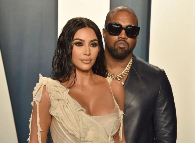 Kanye West và vợ, Kim Kardashian.