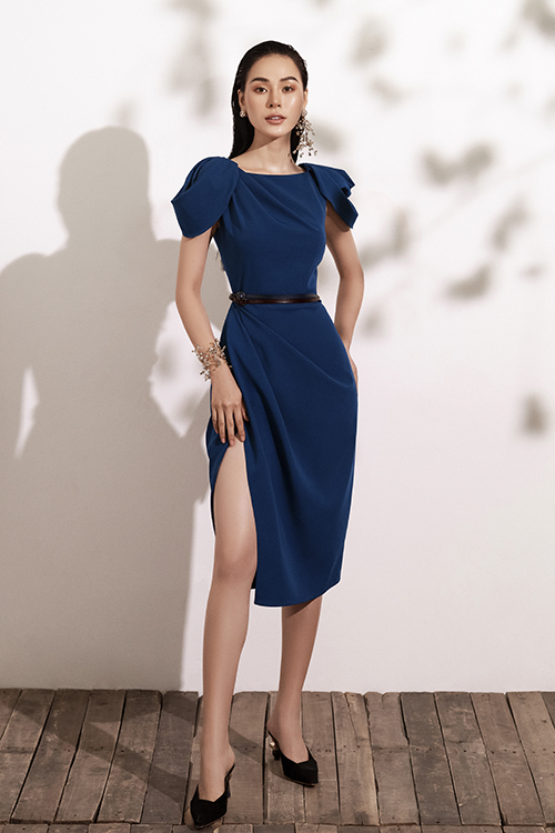 Đầm đi tiệc với tông xanh hot trend - 6