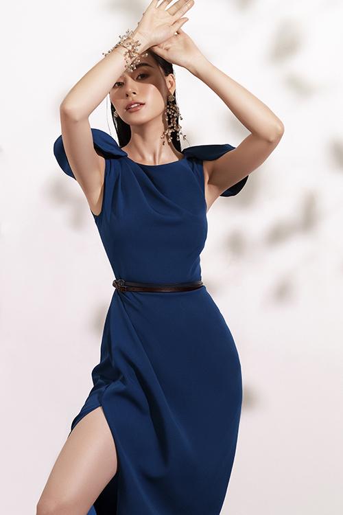 Đầm đi tiệc với tông xanh hot trend - 8