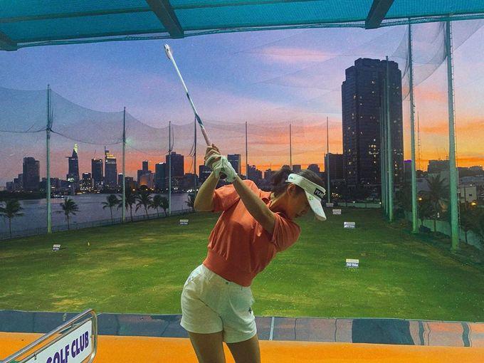 Sao Việt chơi golf cải thiện vóc dáng