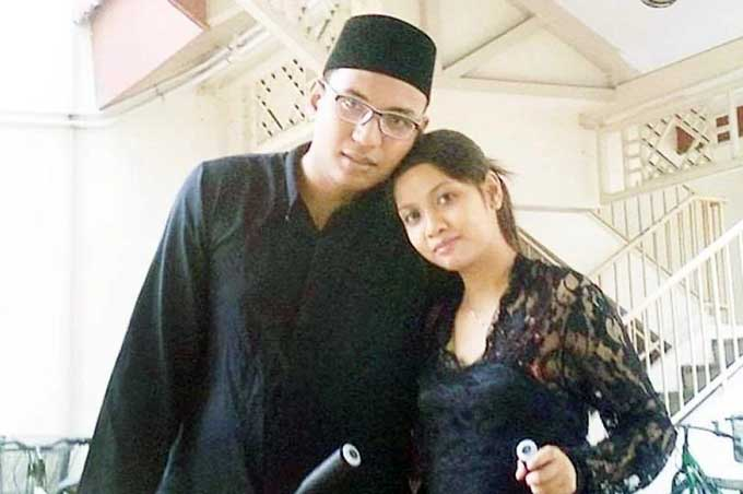 Ridzuan Mega Abdul Rahman và vợ Azlin Arujunah. Ảnh: Facebook.