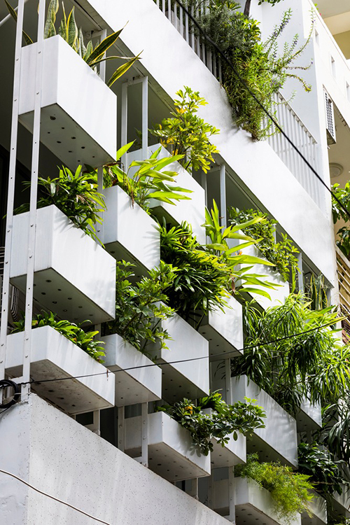 Khi tìm đến nhóm KTS, gia chủ cho biết bản thân làm việc trong lĩnh vực nghệ thuật, yêu thích không gian xanh, có cây cối. Gia chủ muốn căn nhà 4 tầng đáp ứng nhu cầu cuộc sống và công việc trong tương lai. Vì thế, nhóm KTS đã đặt mục tiêu dự án đáp ứng 3 giá trị: yên tĩnh, hài hòa với bối cảnh khu phố, tạo sự kết nối chặt chẽ giữa con người và thiên nhiên.