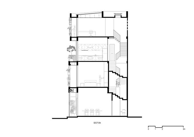 Lát cắt 2D của căn nhà.