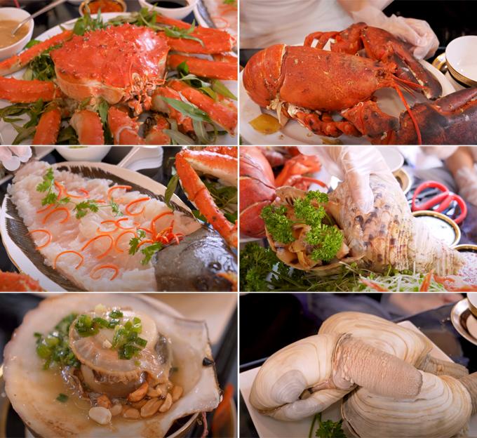 Bữa hải sản nghìn đô tại nhà của Vũ Khắc Tiệp