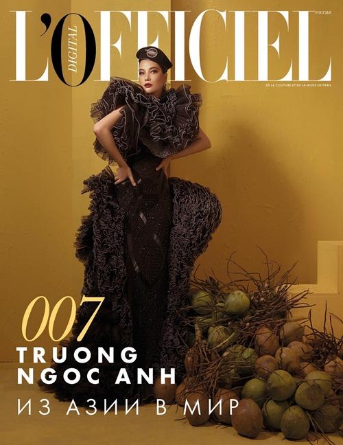 Trương Ngọc Ánh gần đây trở thành nhân vật trang bìa và trong bộ ảnh thời trang của tờ tạp chí tại Nga. Trang bìa in tiêu đề Trương Ngọc Ánh: từ châu Á ra thế giới.