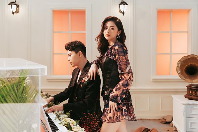 Trịnh Thăng Bình và Liz Kim Cương trong MV Khác biệt to lớn.