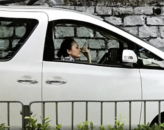 Mẹ Bá Chi chật vật kiếm cuốc taxi mà không được.