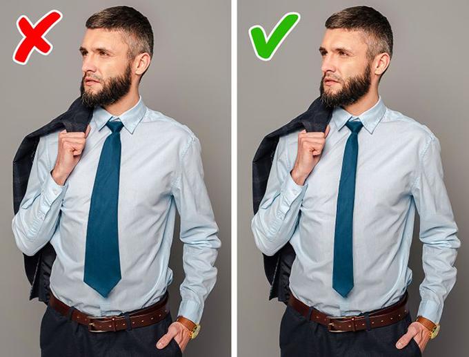 Chọn kích thước cravat không hợp dáng