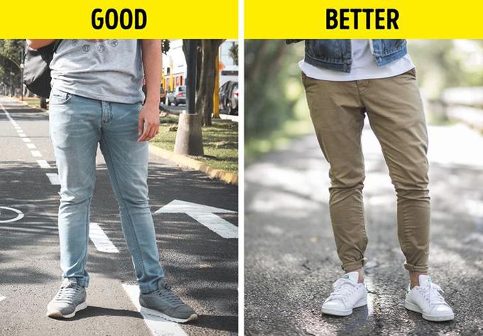 Chỉ mặc quần jeans