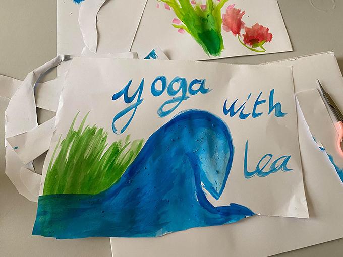 Một bức họa của Tép. Tên thật của cô bé là Lea.