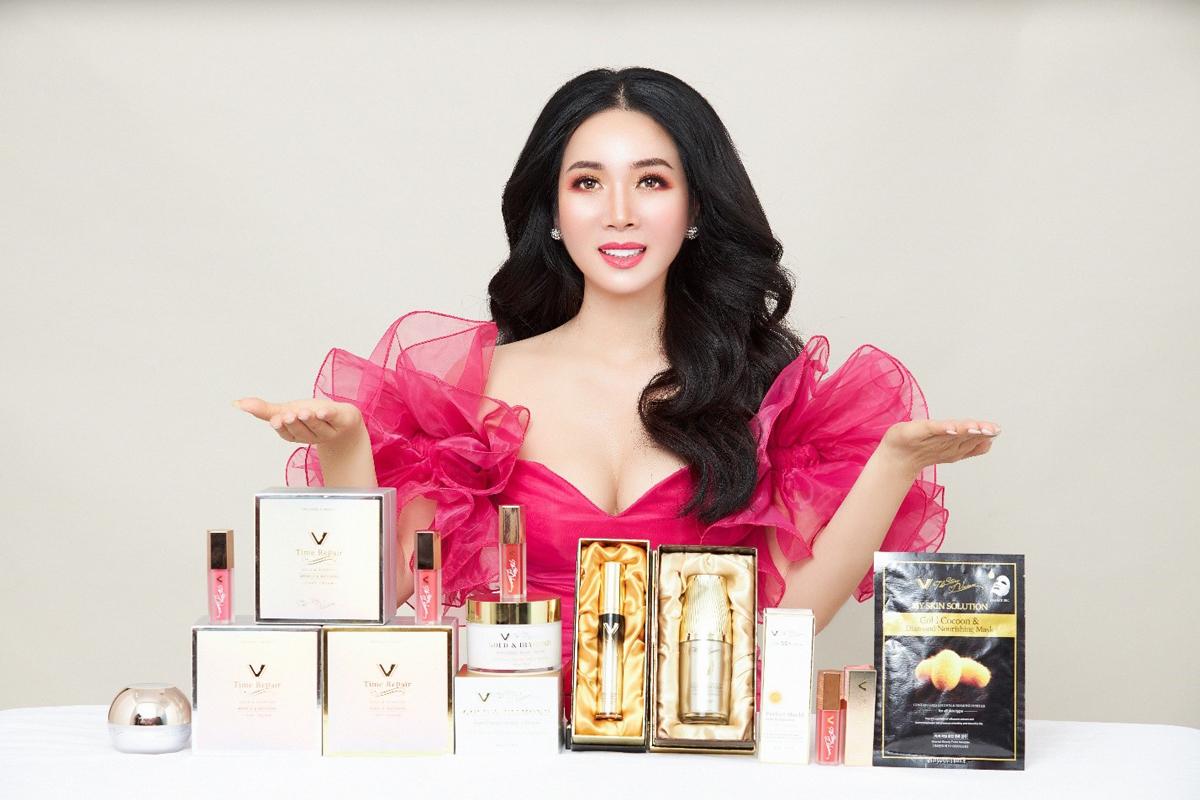 The Story Vivian cung cấp các sản phẩm làm đẹp đắt đỏ từ vàng 2k, bột kim cương.