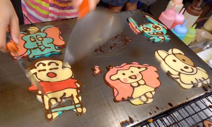 Bánh pancake hoạt hình ở chợ đêm Thái Lan - 1