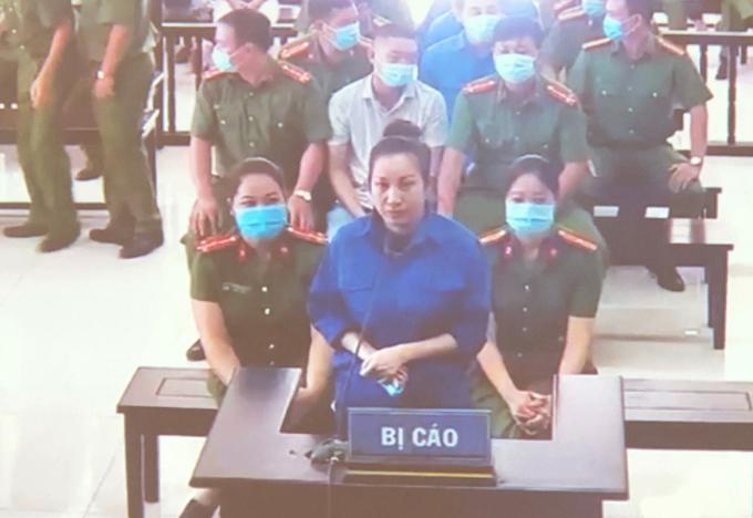 Bị cáo Nguyễn Thị Dương. Ảnh chụp qua màn hình.