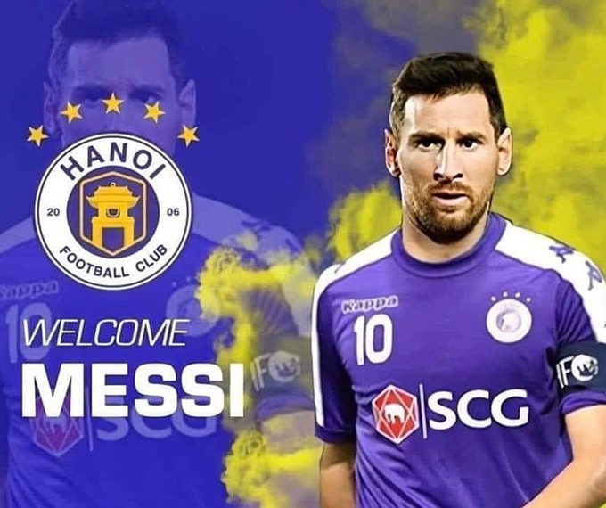 Messi gia nhập CLB Hà Nội