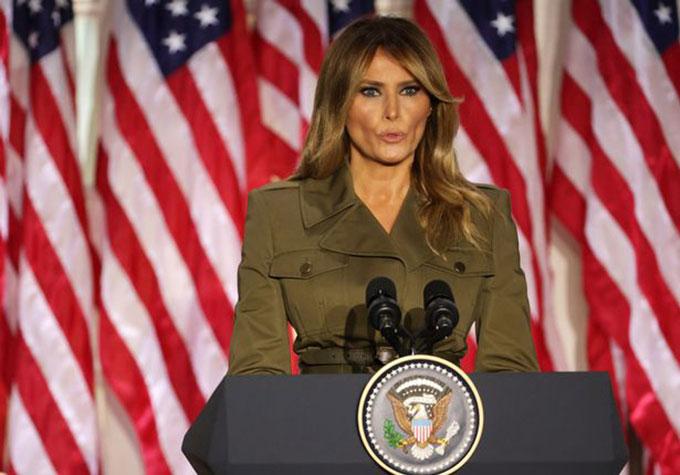 Đệ nhất phu nhân Mỹ phát biểu tại đại hội toàn quốc của Đảng Cộng hòa ở Washington D.C hôm 24/8. Ảnh: Reuters.