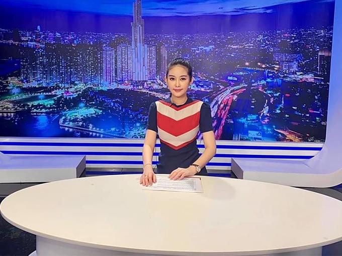 Hoa hậu Đại dương 2017 tại trường quay ở TP HCM.
