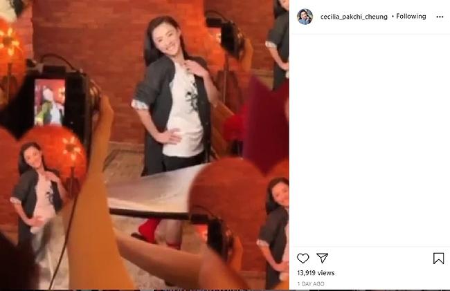 Trương Bá Chi đăng đoạn video, để lộ phần bụng to khó hiểu.