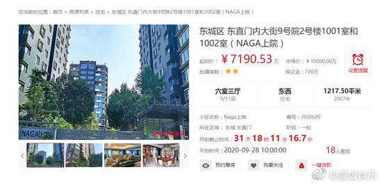 Tài sản của Thành Long được rao bán trên trang đấu giá.