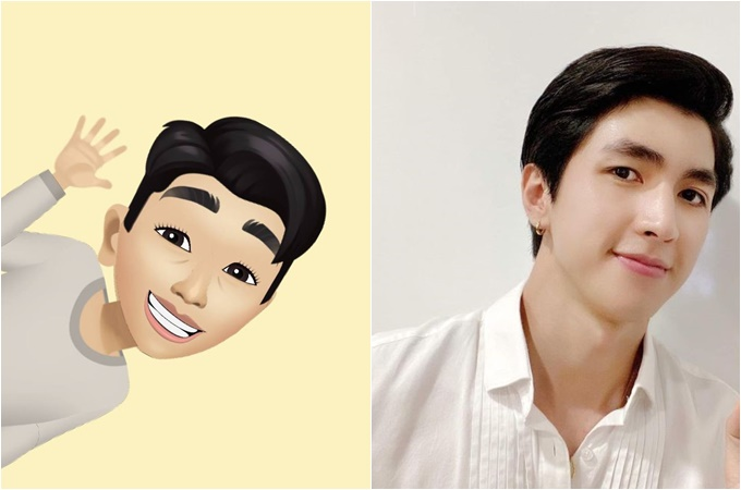 Cũng hưởng ứng thay avatar, diễn viên Bình An không quên thả thính bạn gái kèm chú thích: Đây là Bình An trong mắt Phương Nga.