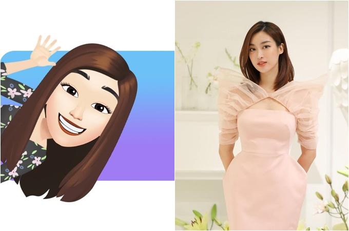Chiều 1/9, Facebook cập nhật tính năng mới cho phép người dùng tạo avatar, nhãn dán phỏng theo bạn với các tùy chọn phong phú như tóc, mắt, mũi, miệng, quần áo, từ đó tạo ra một bộ biểu tượng cảm xúc của riêng mình. Nhiều sao Việt đã nhanh chóng bắt trend. Hoa hậu Đỗ Mỹ Linh thay avatar hoạt hình và tự nhận trông ngốc ngếch.