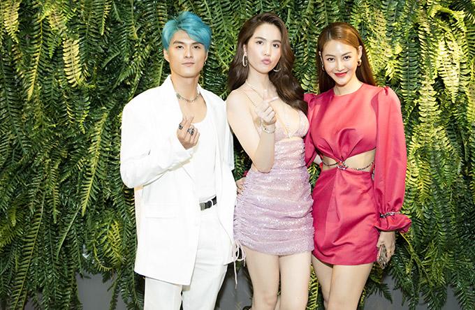 Lâm Vinh Hải - Linh Chi ấn tượng với trang phục và màu tóc nổi bật.