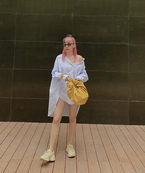 Phượng Chanel diện mốt giấu quần cùng sao - 6