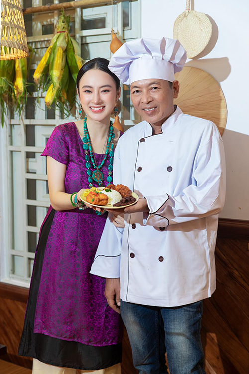 Các món ăn tại quán chay của Angela Phương Trinh đều do chính bố của cô lên món, ra công thức và giám sát chặt chẽ tại hai cơ sở ở Thủ Đức và Lâm Văn Bền, Q7, TP HCM.