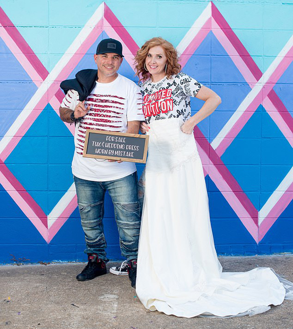 Shalena và chồng cũ đăng bán trang phục cưới sau ly hôn. Ảnh: Facebook.