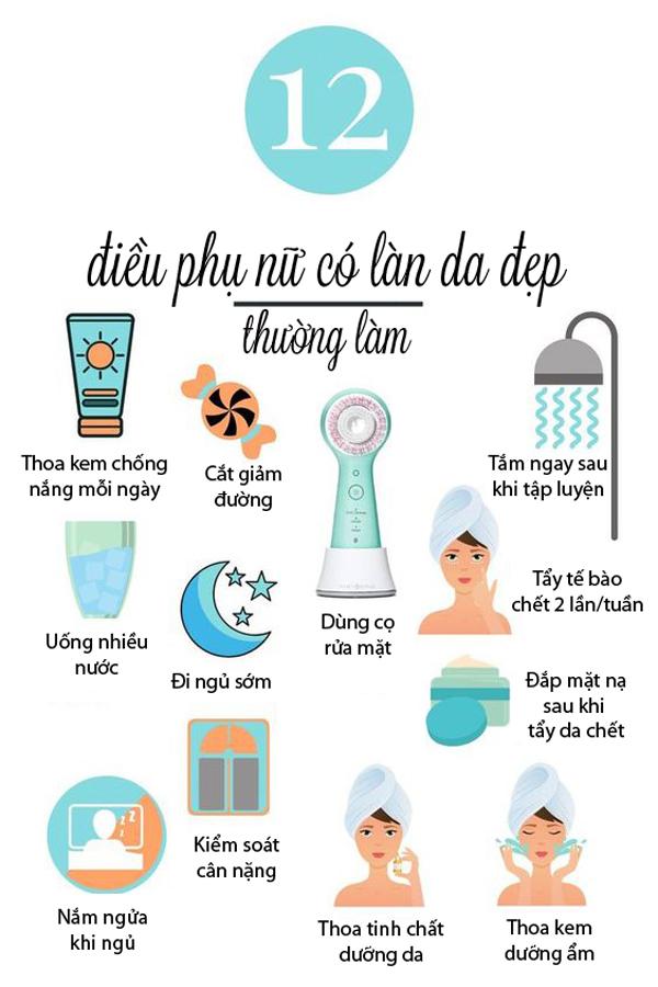 12 điều phụ nữ có làn da đẹp thường làm