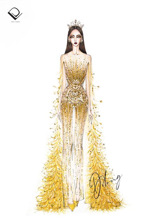 Người đẹp Miss Grand Thái Lan nhái váy Đỗ Long - 4