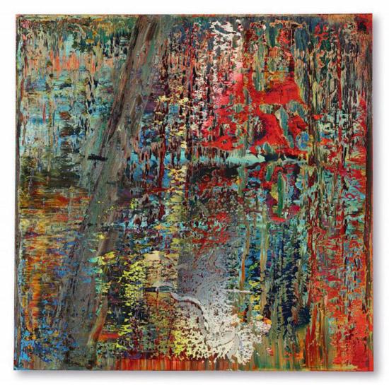 Bức tranh  Abstraktes Bild (649-2) của danh họa Gerhard Richter thuộc bộ sưu tập của tỷ phú Perelman dự kiến sẽ được bán đấu giá ở Hong Kong. Ảnh: Bloomberg.