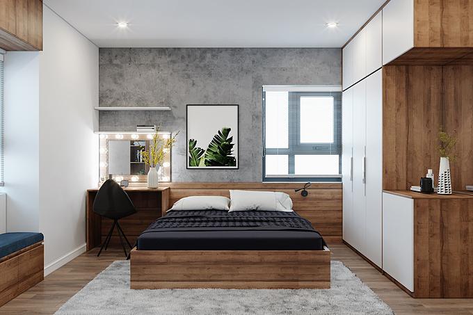 2. Sử dụng gỗ công nghiệp trong thiết kế phòng: