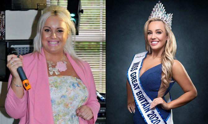 Đăng quang Hoa hậu Anh sau giảm 50 kg