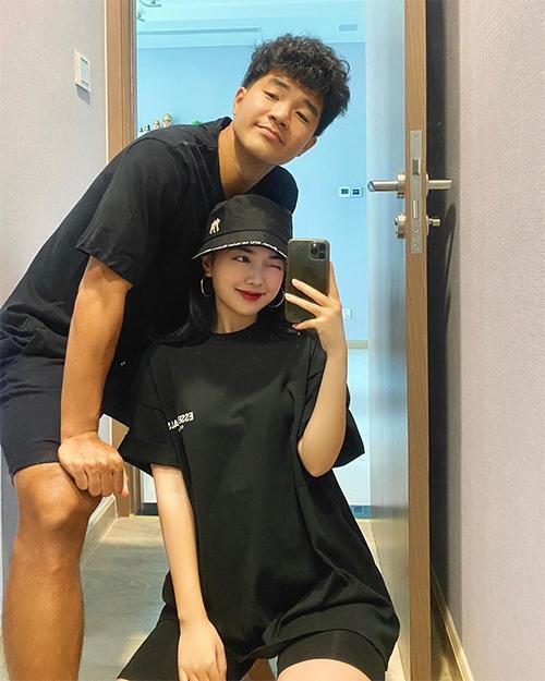 Đức Chinh và bạn gái Mai Hà Trang. Ảnh: MHT.