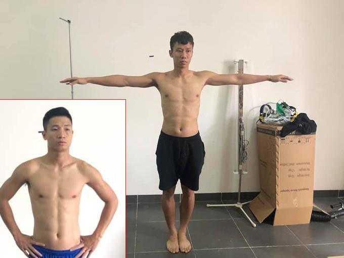 Quế Ngọc Hải, Bùi Tiến Dũng tham gia kiểm tra hình thể trong đợt xét tuyển Đại học Sư phạm Thể dục Thể thao Hà Nội. Ảnh: Viettel FC.
