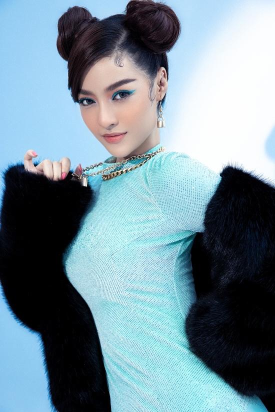 Á hậu Kiều Loan thử phong cách rapper - 8