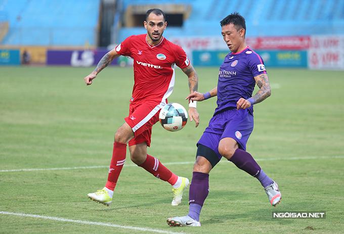 Trận đấu diễn ra với thế trận khá cân bằng. Viettel cố gắng tấn công nhưng hàng thủ Sài Gòn thi đấu chắc chắn, khiến không có nhiều cơ hội  được tạo ra.